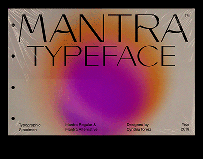 Mantra Typeface | Type & Editorial Specimen