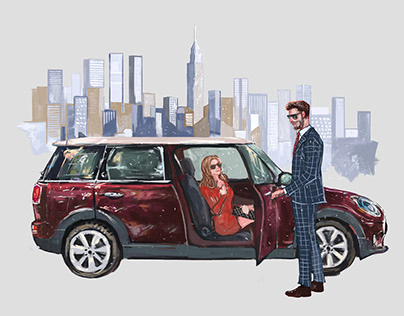 Commercial Illustration for BMW MINI 2016