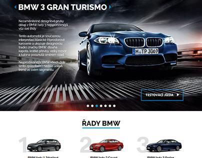 Webdesign / UX - BMW - testovací jízda