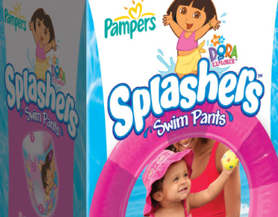 Pampers Splashers | Redesign 2009