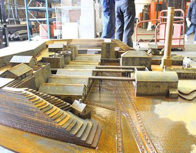 Scale model of Blaenavon Ironworks