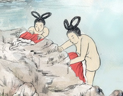 Korean Tale: fairy and the lumberjack