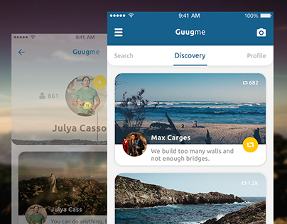 Mobile UI/UX Design / Social Journey App