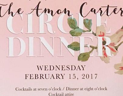 Circle Dinner Invitation