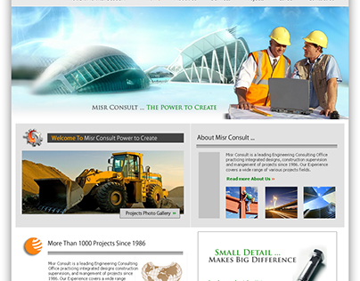 Misr Consult Website