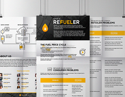 One pager for start-up with a set of infographics