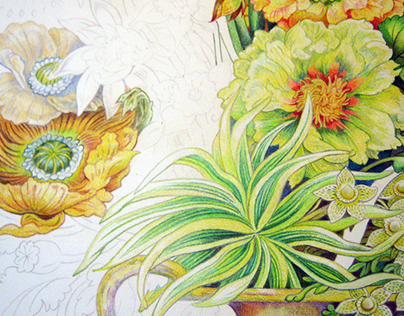 "Bouquet Collection ""Sunfilled Sunup"" work progress"