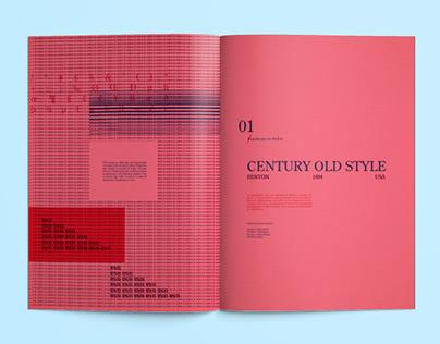 Century Old Style / Typographic Design