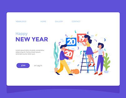 New Year 2020 Landing Page Design
