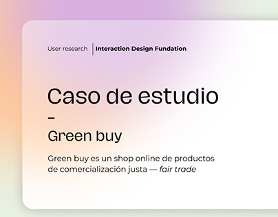 User Research - Case study