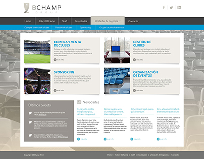 Web - Diseño de interfaz - Bchamp Group
