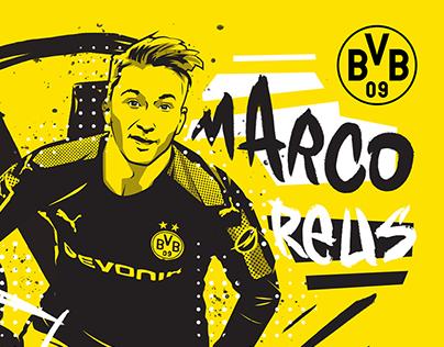 Commissioned Illustrations - Borussia Dortmund 2017/18