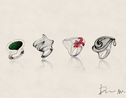 Jewellery Design Hand Drawn Sketches On Behance