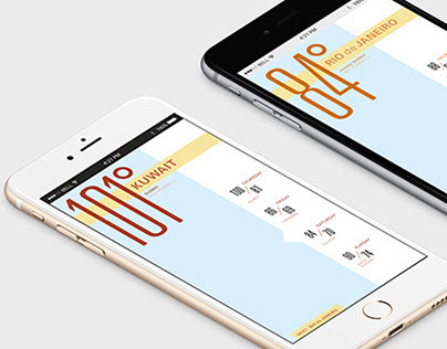 Interactive Typographic Weather App