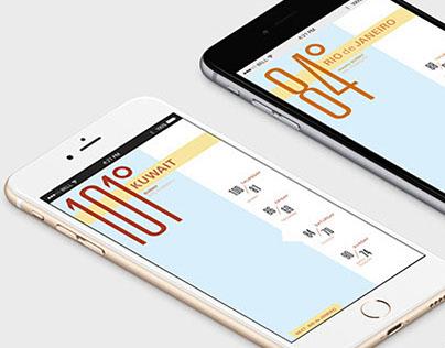 Interactive Typographic Weather App