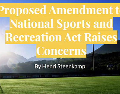 Proposed Amendment to National Sports and Recreation...