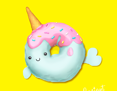Unicorndonut Digital Art
