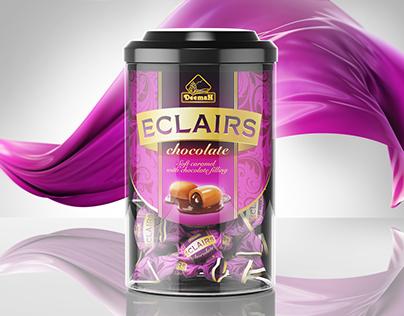 "Chocolate Eclairs ""Deemah"". Packaging Design"