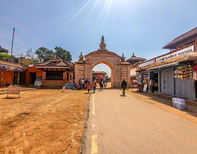 Walking Around the Brick City in Nepal