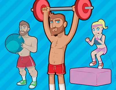 CROSSFIT STICKERS ANIMATION