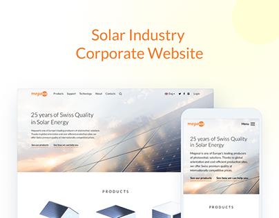 Solar Industry Leader Website