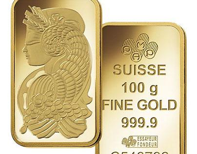PAMP Suisse 100 Gram Gold Bars