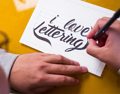 Curso Online de Lettering na Escola Saibalá