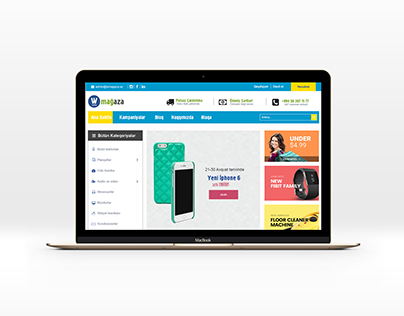 Online Magaza, online store PSD template