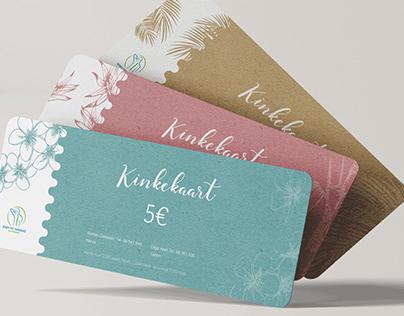 Massage Studio gift voucher & business card design