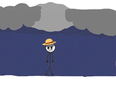 Depressed Luffy stick man