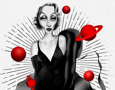 """Мy version of """"The Birth of Venus"""" Marlene Dietrich"""