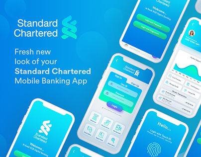 Standard Chartered - UX/UI - Concept Mobile Banking App