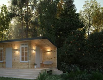Plywood Reusable Hut