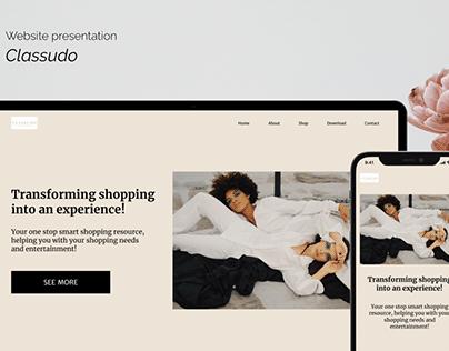 Website presentation- Classudo