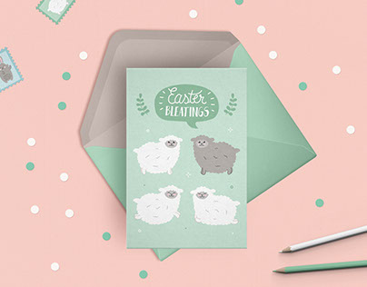 Easter card range for ®Second Nature