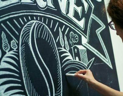 Chalk Lettering in ZERNE