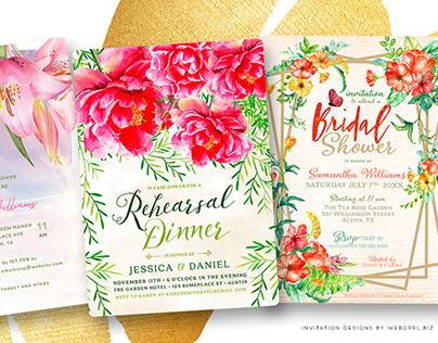 Invitation Card designs by Webgrrl - Marketing • Promo
