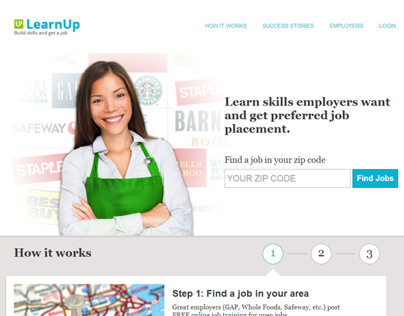 LearnUp Home Page