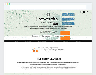 NewCrafts branding and UI designs