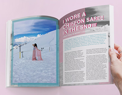 Feature Writing - I wore a chiffon saree in the snow