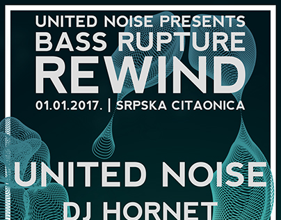 Bass Rupture Rewind - A Party Poster Thing