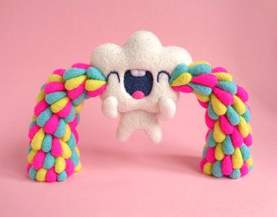 Happy Tears Cloud Art Toy