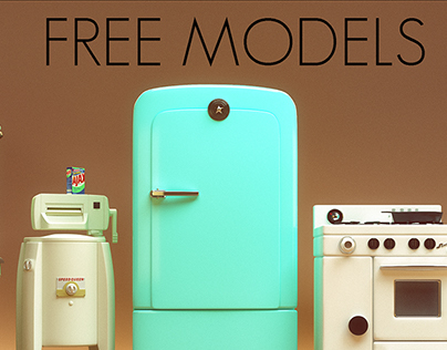 Stylized Retro Appliances