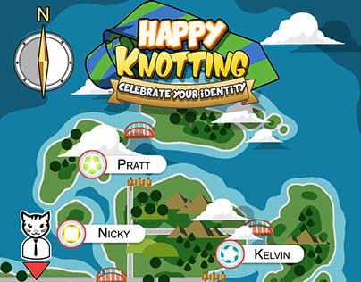 Happy Knotting for Randomwalk