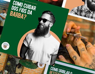 Marquinhos Barber Shop — visual identity