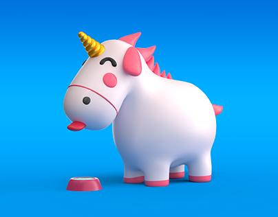 Thirsty unicorn