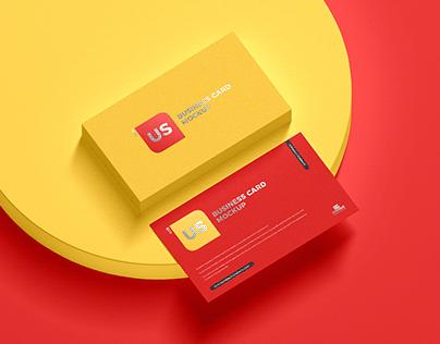 Free US Business Card Mockup