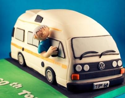 VW Komet Campervan Birthday Cake