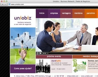 Uniobiz website layout