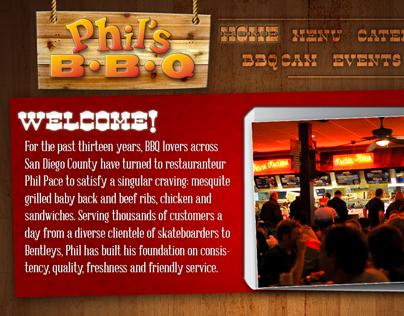 Phil's BBQ Website Design